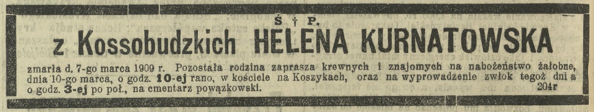 Helena z Kossobudzkich Kurnatowska www.sieniawscy.pl