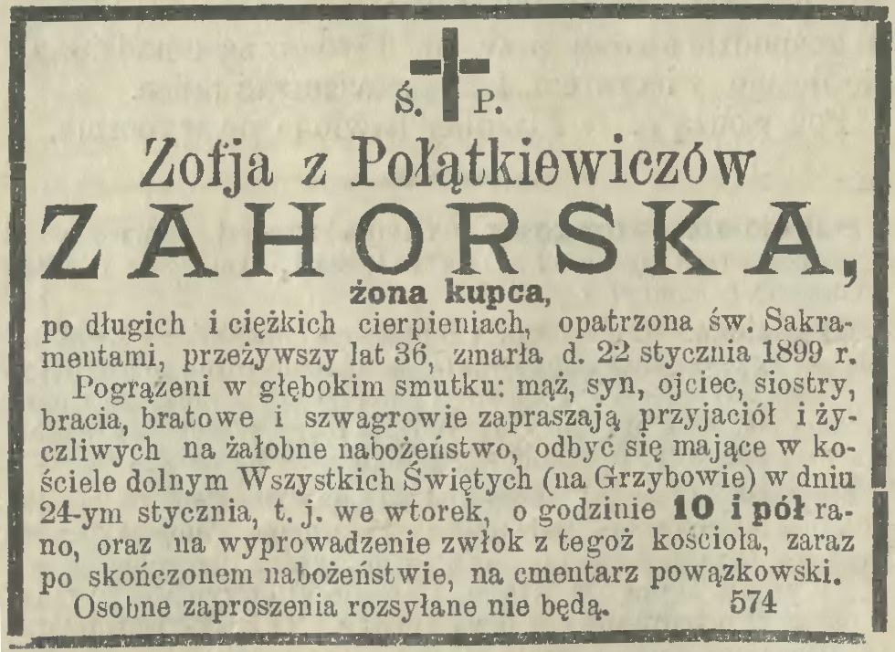 Zofia Połątkiewicz Zofia Zahorska