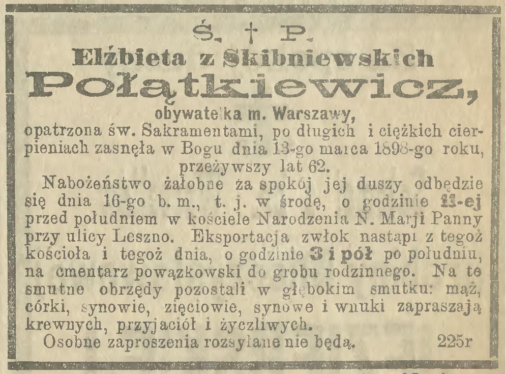 Elżbieta Skibniewska Połątkiewicz